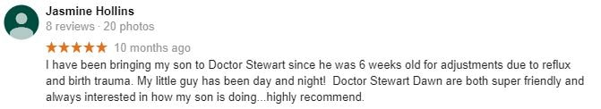 Patient Testimonial at Stewart Family Chiropractic